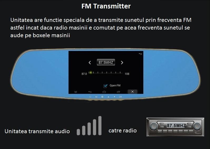 oglinda auto cu fm transmiter