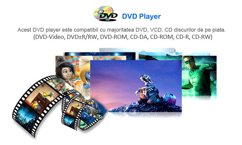 navigatie auto cu android si dvd player ce reda discuri cd si dvd