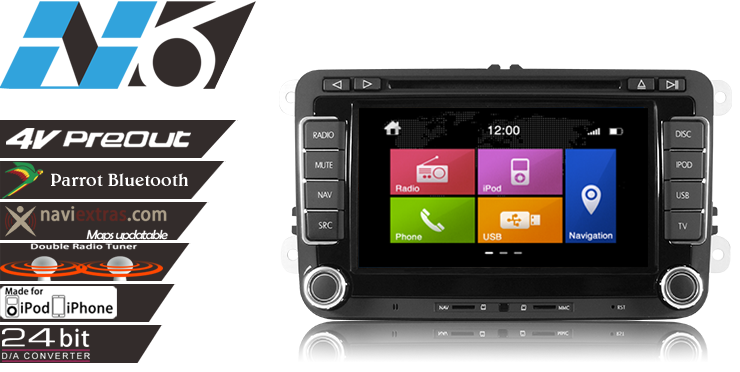 Dvd auto cu navigatie si android vw