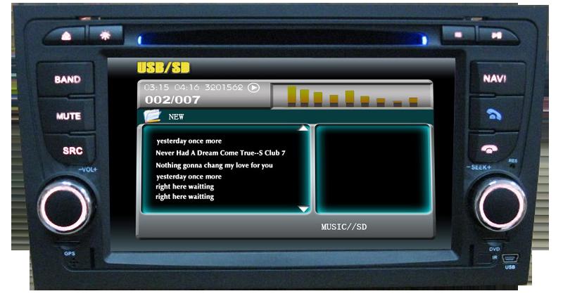 usb si sd pe dvd auto 2 din AUDI A4