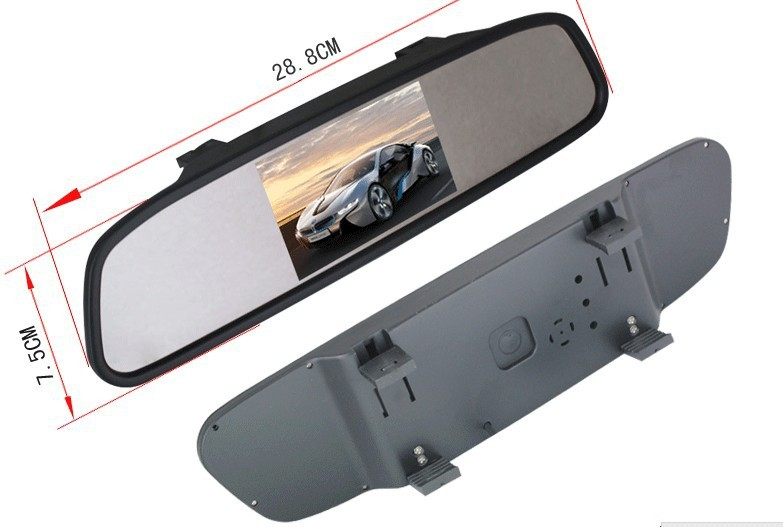"""Oglinda cu monitor de 4.3"""" pentru camera marsarier"""