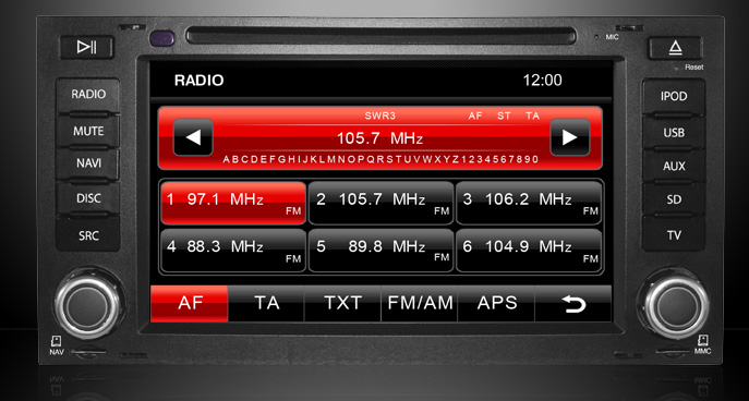 radio tuner navigatie auto cu gps vw touareg t5