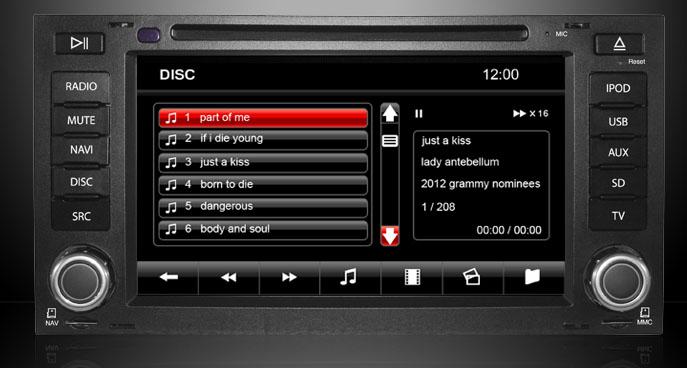 dvd/usb/sd gps auto vw touareg dynavin t5