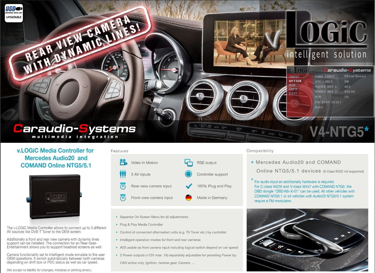 interfata audio video mercedes ntg5