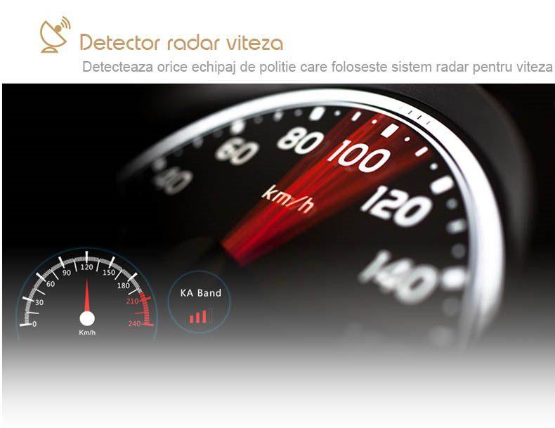 detector de radar auto cu dvr si gps