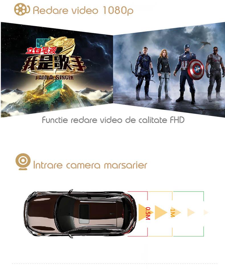 intrare de camera video auto pentru dvr auto cu ecran