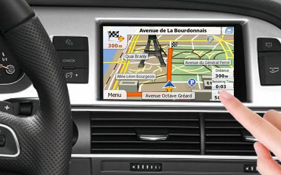 navigatie prin gps cu ecran tactil pentru audi mmi