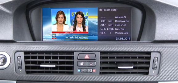 tuner tv digital hd pentru bmw ccc cu fibra optica