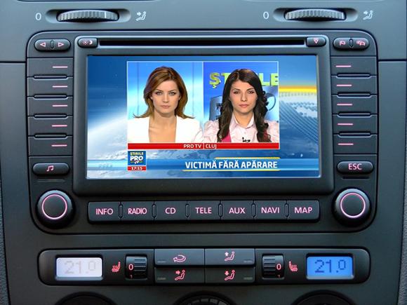 tuner tv auto digital hd pentru vw skoda seat cu mfd2