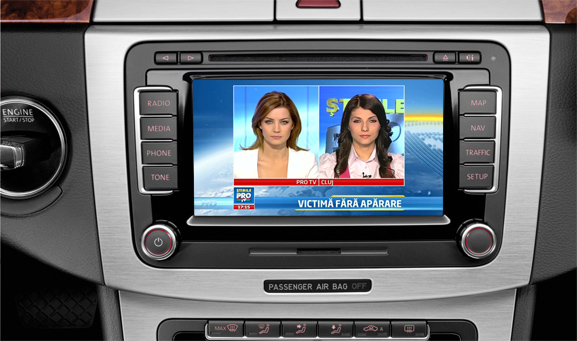 tuner tv auto digital hd pentru vw skoda seat mfd3