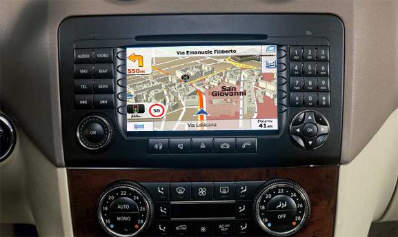 navigatie auto cu gps pentru mercedes ntg 2