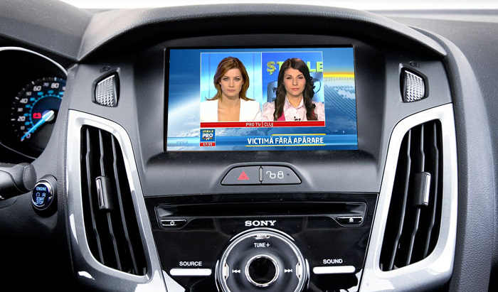 tuner tv auto digital hd pentru ford focus 2012
