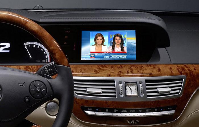 tuner tv auto digital hd pentru mercedes clasa s si cl