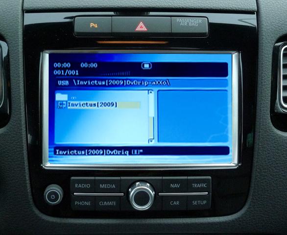 dvd player auto cu usb si sd pentru touareg rcd550