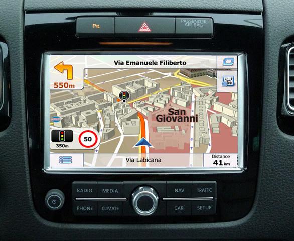 navigatie auto prin gps pentru touareg rcd550