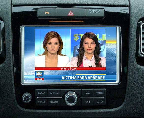 tuner tv auto digital hd pentru touareg rcd550