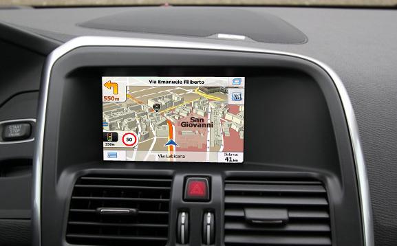"""navigatie auto cu gps pentru volvo sensus 5"""""""