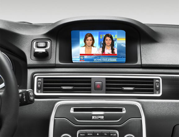 tuner tv auto digital hd pentru volvo rti sensus 7""
