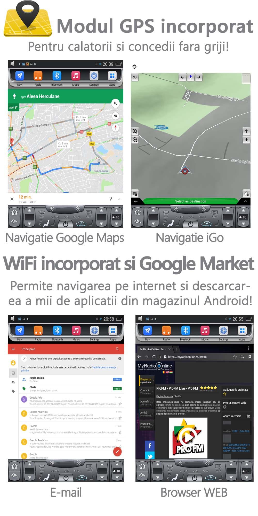 gps navigatie tesla ford focus 2011 ecran de 10.4