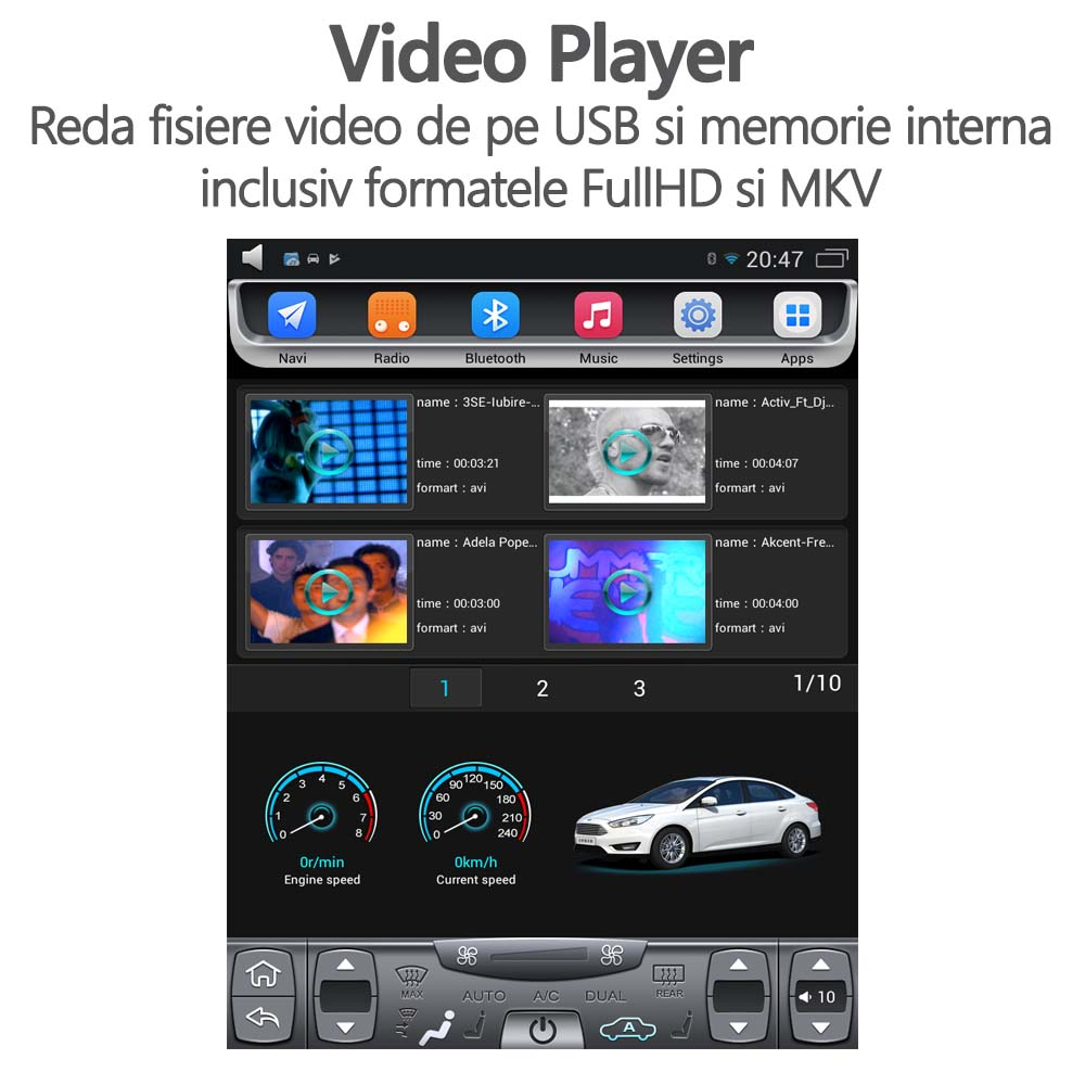 video player ford focus navigatie tesla