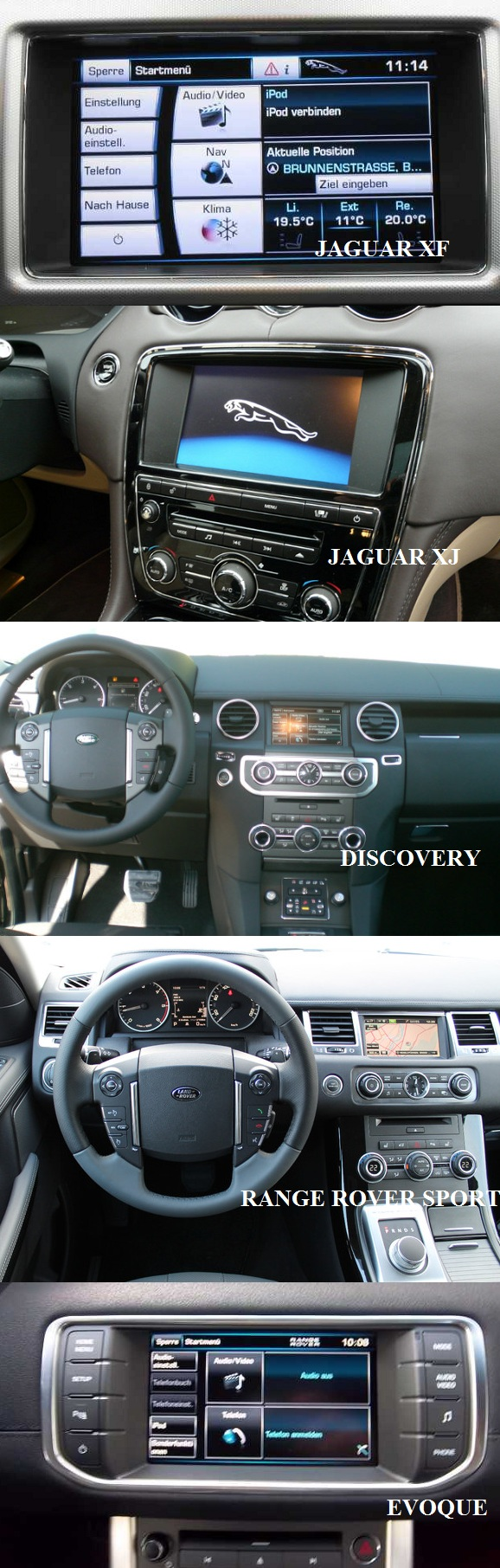 compatibilitate video in miscare jaguar range rover