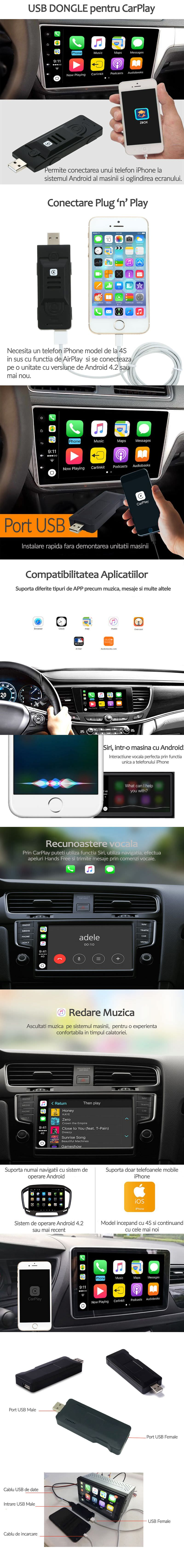 USB Dongle pentru CarPlay