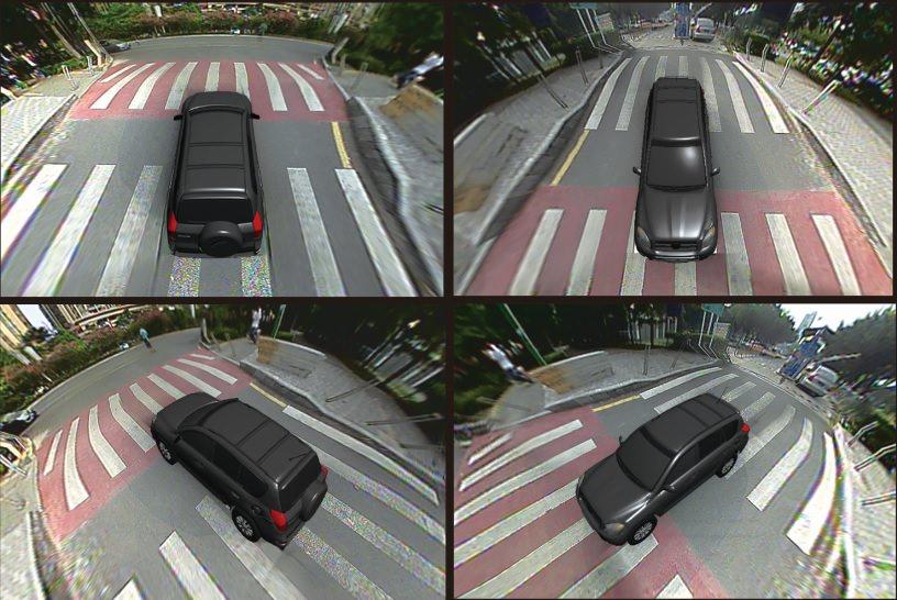 vedere sistem auto de parcare 360 de grade