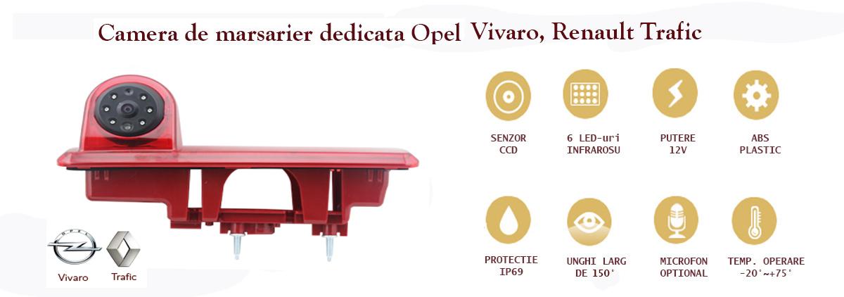 Specificatii camera video marsarier stop frana Renault Trafic Opel VIvaro