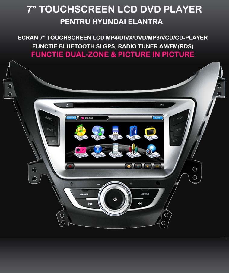 dvd auto cu gps hyundai elantra 2012