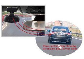 Imagine clara cu camera video auto dvr