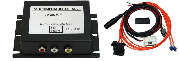 interfata audio video porsche cayenne pcm 2.0