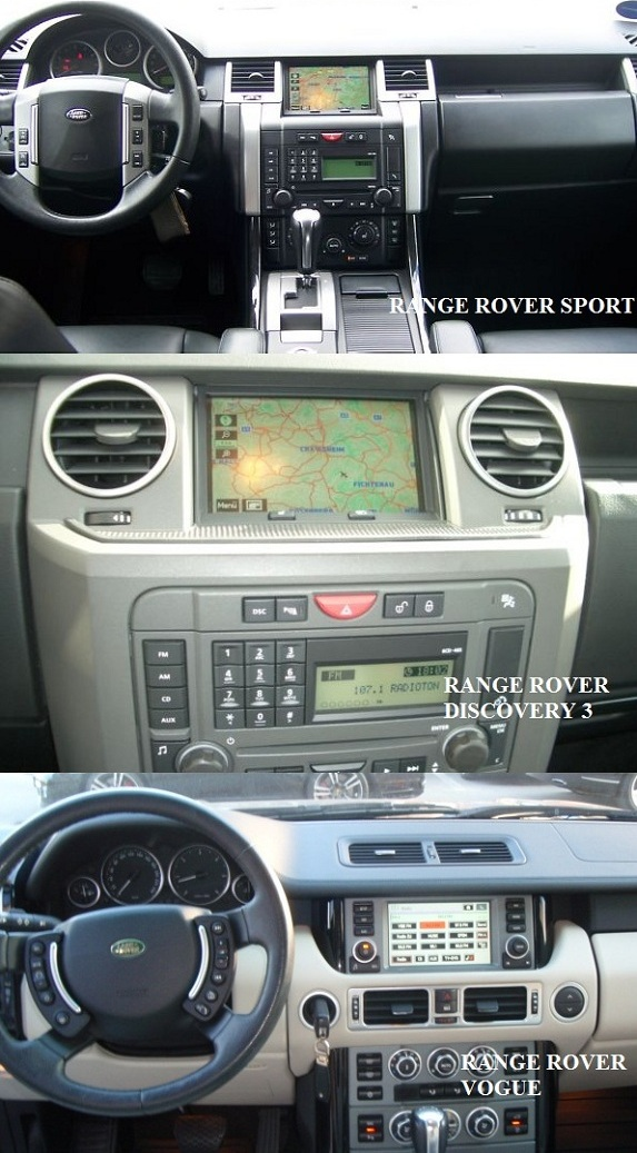 compatibilitate interfata audio video range rover
