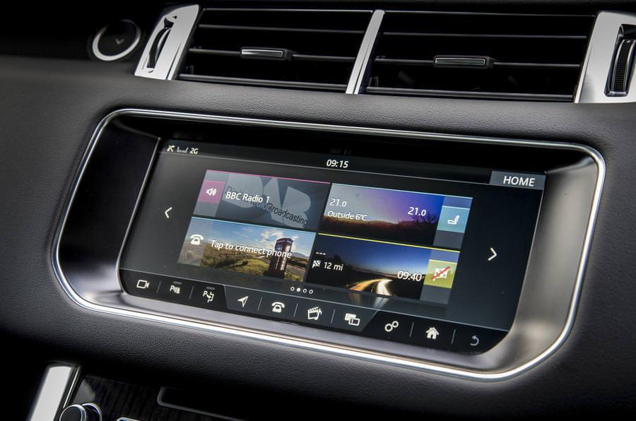 "range rover jaguar 10.2"" interfata video"