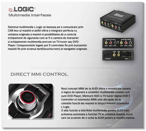interfata audio video audi mmi 2g