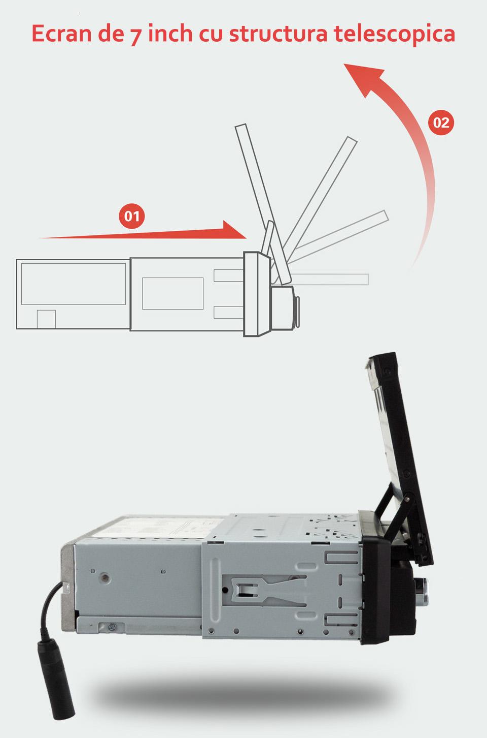 Navigatie 1DIN universala cu android internet gps usb sd wifi auxin