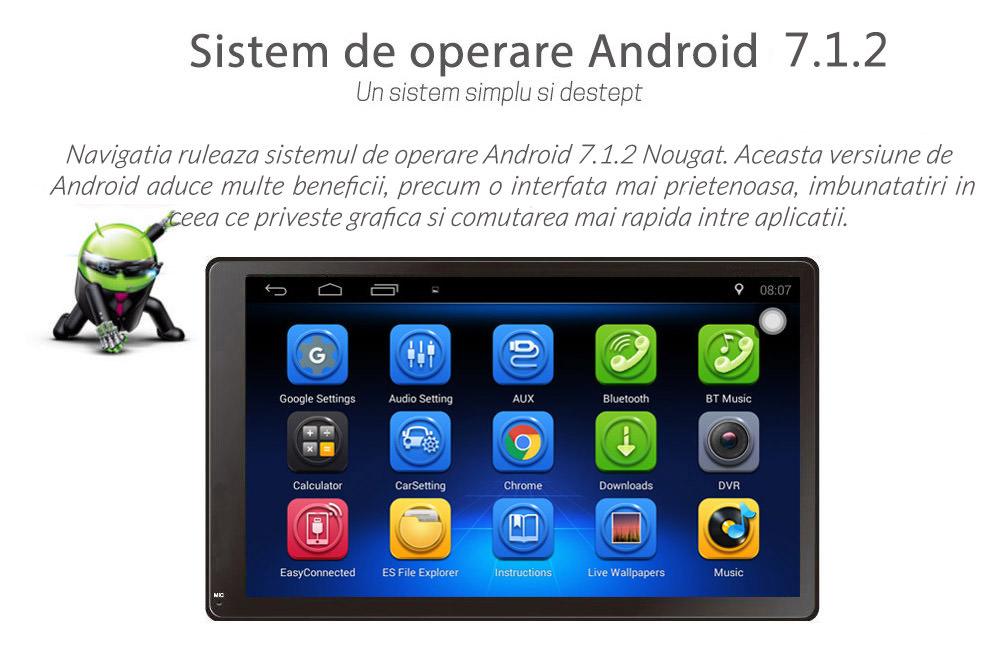 navigatie universala cu ecran de 7 inch si android 4.4.2