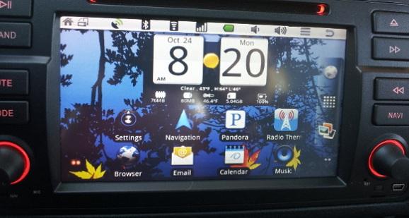navigatie auto touchscreen e46 poza android 1