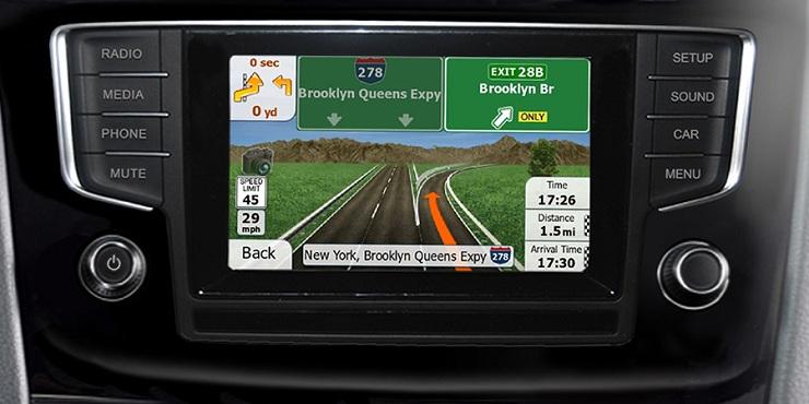 navigatie prin gps pentru vw golf 7 media composition touchscreen