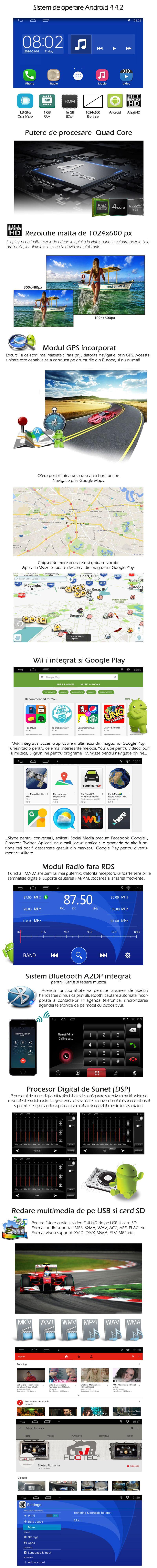 Navigatie dedicata Skoda 3 cu Android gps bluetooth internet wifi usb sd
