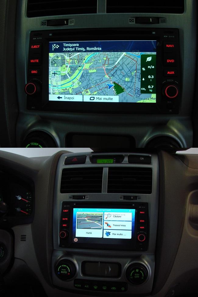 kia sportage dvd auto cu navigatie instalat
