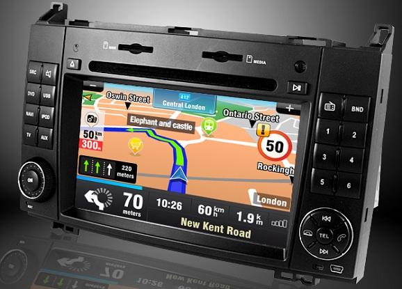 navigatie auto touchscreen mercedes vito viano