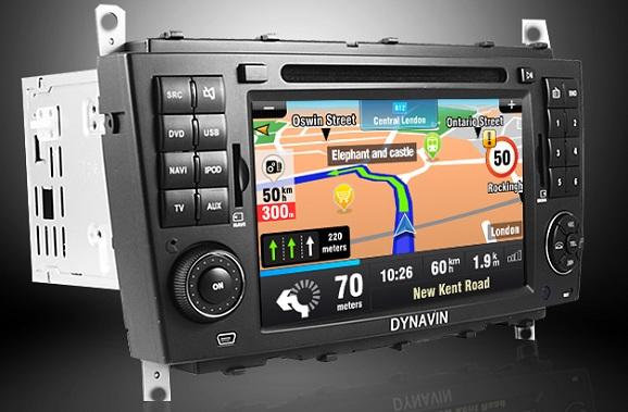 navigatie auto touchscreen mercedes clasa c si clc cu internet