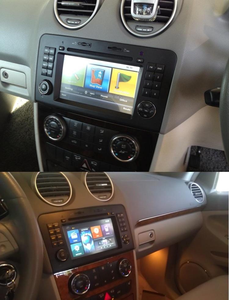 mercedes mbml gl dvd auto cu navigatie instalat