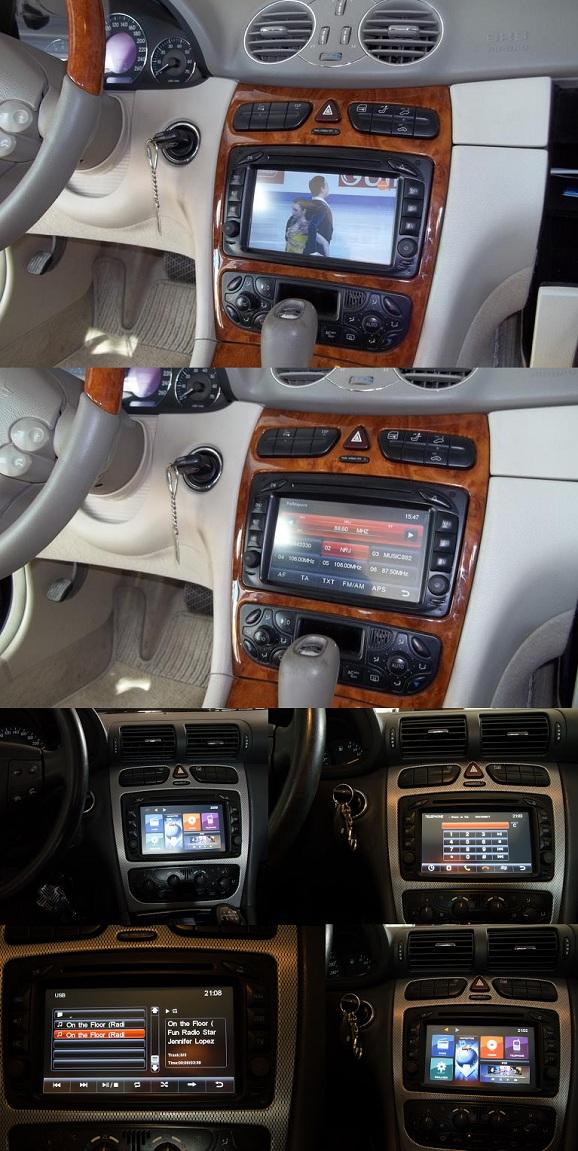 dvd auto mercedes cu navigatie instalat