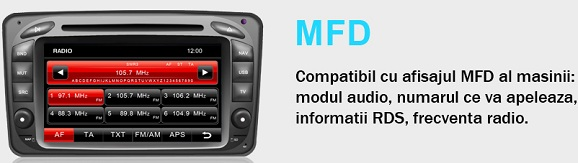 gps auto dvd canbus mercedes clasa c si clk cu android