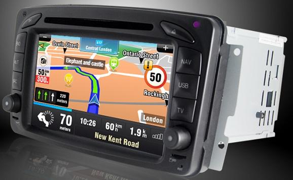 navigatie auto touchscreen mercedes clasa c si clk cu internet