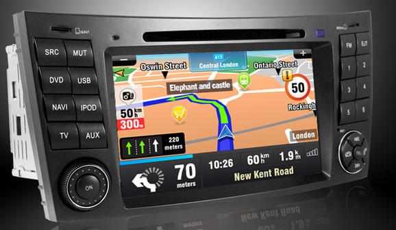 navigatie dvd auto mercedes cls w219