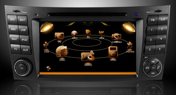 ecran tactil 7 dvd auto mercedes clasa e w211