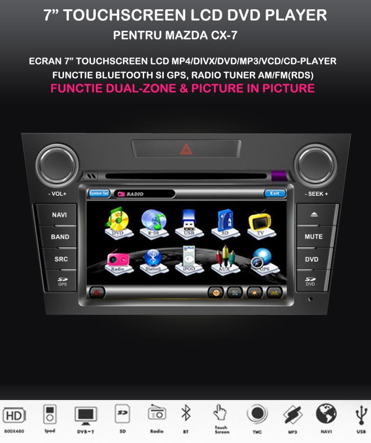 mazda cx-7 dvd auto navigatie internet