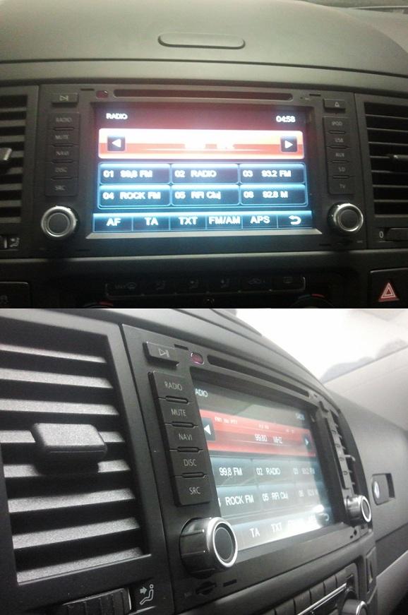 dynavin tranporter touareg dvd auto cu gps instalat